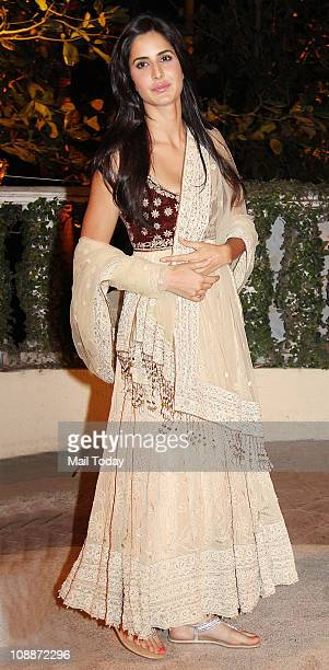 Katrina Kaif at Imran Khan and Avantika Malik's wedding reception party which was organised by Aamir Khan and Kiran Rao at Taj Lands End in Bandra on...