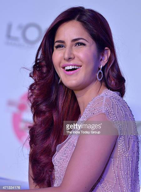 Katrina Kaif at the unveiling of LOreal Pariss new Cannes collection in Mumbai.
