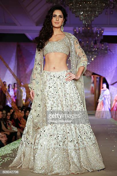 Katrina Kaif walks the runway at Regal Threads Fashion Show By Manish Malhotra at Trident Hotel on January 14 2016 in Mumbai India