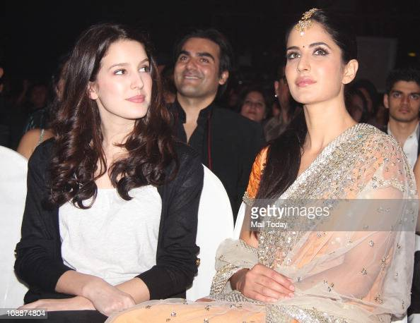 Katrina Kaif with sister Isabella during the Stardust ...