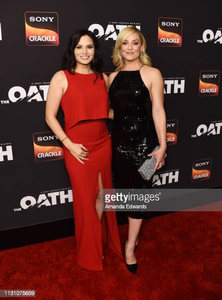 Katrina Law and Elisabeth Rohm arrive at Sony Crackle's 'The Oath' Season 2 exclusive screening event at Paloma on February 20 2019 in Los Angeles...