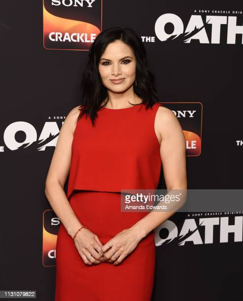 Katrina Law arrives at Sony Crackle's The Oath Season 2 exclusive screening event at Paloma on February 20 2019 in Los Angeles California