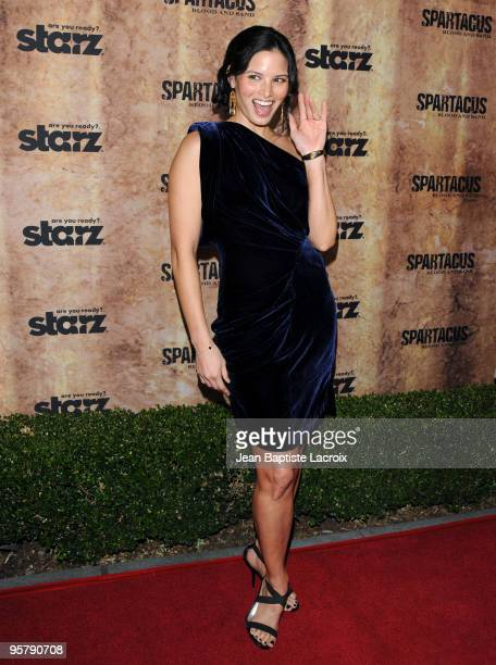 Katrina Law arrives at the Starz original TV series 'Spartacus Blood and Sand' at Billy Wilder Theater on January 14 2010 in Westwood Village...