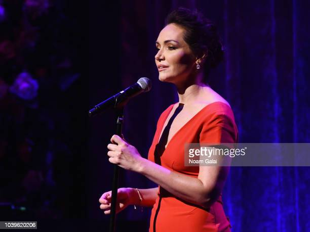 Katrina Lenk performs onstage during the American Theatre Wing Centennial Gala at Cipriani 42nd Street on September 24 2018 in New York City