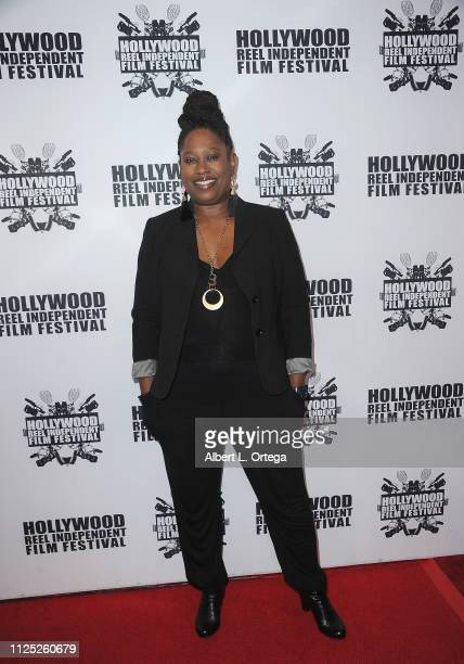 Katrina Nelson arrives for The 2019 Hollywood Reel Independent Film Festival held at Regal LA Live Stadium 14 on February 15 2019 in Los Angeles...