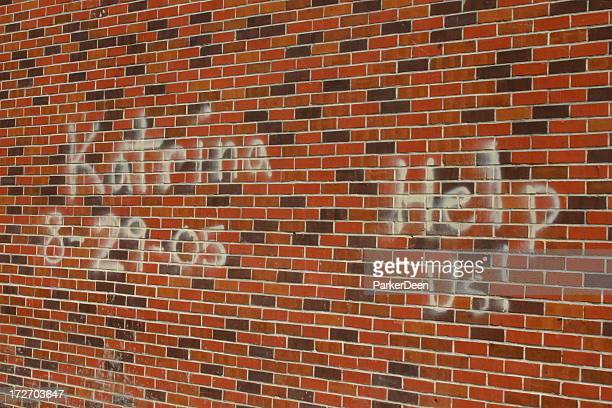 katrina- on the wall - hurricane katrina stock pictures, royalty-free photos & images