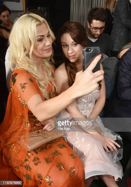 Katrina Patchett and Jade Geropp attend the Christophe Guillarme show as part of the Paris Fashion Week Womenswear Fall/Winter 2019/2020 on February...