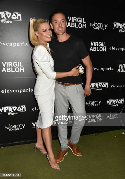 Katrina Patchett and Maxime Dereymez from Danse Avec Les Stars attends the Virgil Abloh DJ Party at the VIP Room as part of SaintTropez Party On...