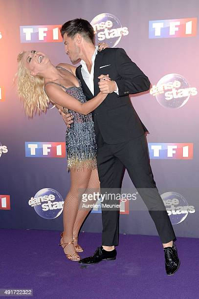 Katrina Patchett and Vincent Niclo pose during the 'Dances With The Stars' photocall on October 7 2015 in Paris France