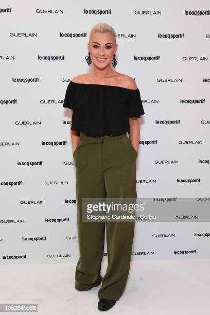 Katrina Patchett attends the Le Coq Sportif x Guerlain launch collection at Maison Guerlain on ChampsElysees Avenue on October 23 2018 in Paris France