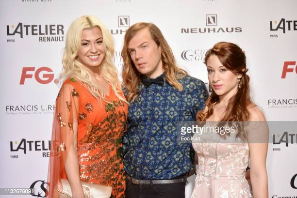Katrina Patchett Christophe Guillarme and Jade Geropp attend the Christophe Guillarme show as part of the Paris Fashion Week Womenswear Fall/Winter...