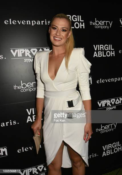 Katrina Patchett from Danse Avec Les Stars attends the Virgil Abloh DJ Party at the VIP Room as part of SaintTropez Party On French Riviera on July...
