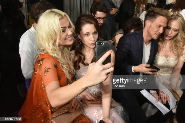 Katrina Patchett Jade Geropp Pierre Barbe and Tonya Kinzinger attend the Christophe Guillarme show as part of the Paris Fashion Week Womenswear...
