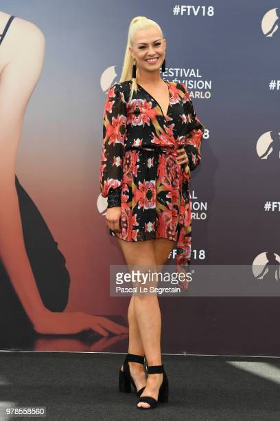 Katrina Patchett of the show Dance Avec les Stars attends a photocall during the 58th Monte Carlo TV Festival on June 19 2018 in MonteCarlo Monaco