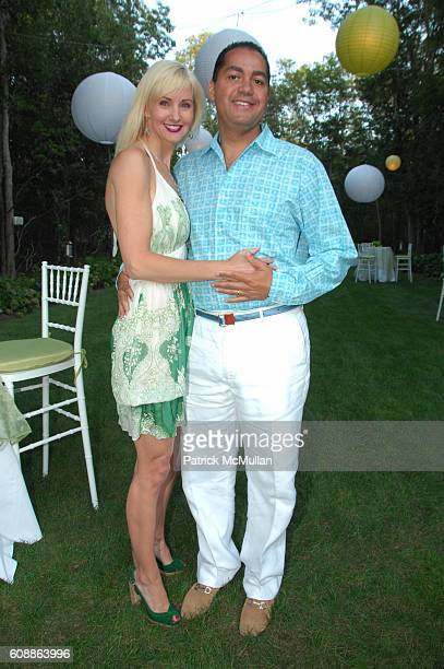Katrina Peebles and Don Peebles attend KATRINA DON PEEBLES cocktail party at Peebles home Bridgehampton NY on August 18 2007