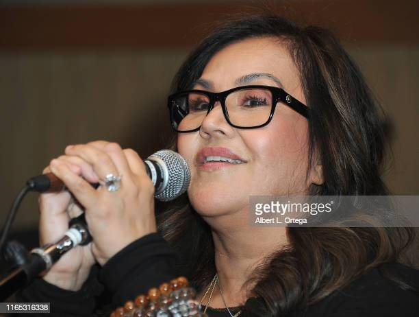 Katrina Ponce Enrile introduces her daughter at the Special Listening Session By Tiana Kocher held at Westlake Recording Studios on August 31 2019 in...