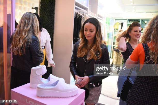 Katrina Razon attends the Flaunt Magazine Dinner with Nike and Revolve on February 15 2018 in Los Angeles California