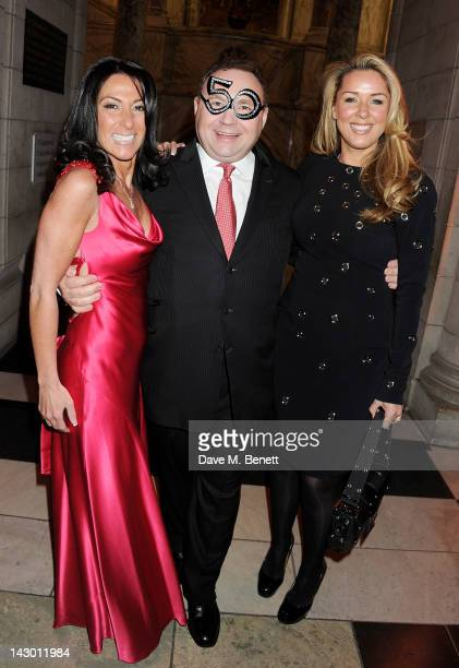 Katrina Shalit Jonathan Shalit and Claire Sweeney attends Jonathan Shalit's 50th birthday party at The VA on April 17 2012 in London England