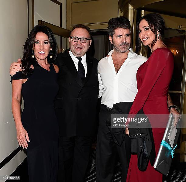 Katrina Shalit Jonathan Shalit Simon Cowell and Lauren Silverman leave The Dorchester Hotel following the Shooting Star Chase Ball on October 3 2015...
