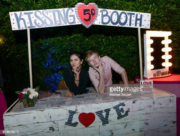 Katrina Stuart and Sam Golbach attend For the Love of Influences #ValentineBash on February 3 2018 in Los Angeles California
