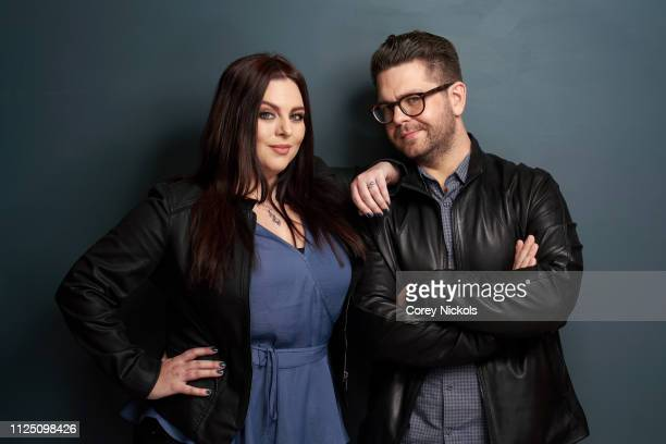 Katrina Weidman and Jack Osbourn of Travel Channe's 'Portals to Hell' pose for a portrait during the 2019 Winter TCA at The Langham Huntington...
