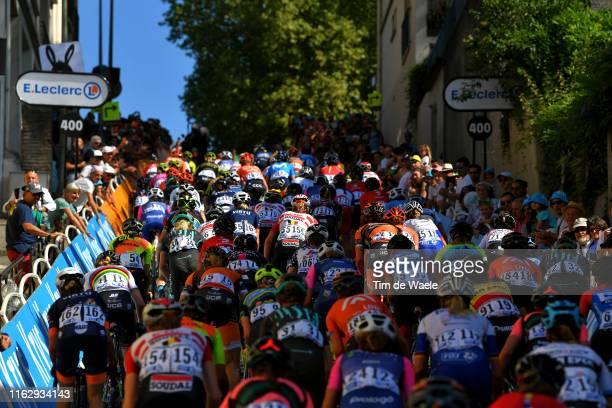 Katrine Aalerud of Norway and Team Virtu Cycling / Anna van der Breggen of The Netherlands and Team Boels Dolmans Cyclingteam / Annika Langvad of...
