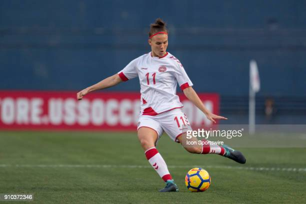 Katrine Veje of Denmark during the international friendly game between US Women's National team and Denmark Women's team held January 21 2018 at...