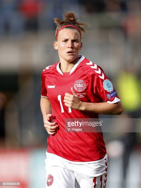 Katrine Veje of Denmark during the UEFA WEURO 2017 semifinal match between Denmark and Austria at the Rat Verlegh stadium on August 03 2017 in Breda...