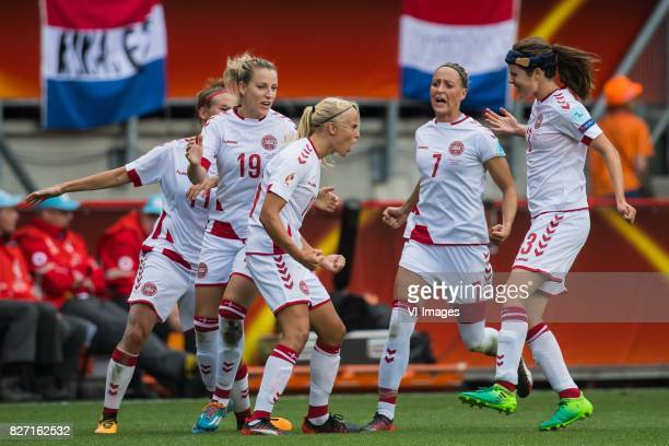 Katrine Veje of Denmark women Cecilie Sandvej of Denmark women Pernille Harder of Denmark women Sanne Troelsgaard of Denmark women Sofie Junge...