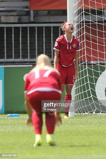 Katrine Veje of Denmark women during the UEFA WEURO 2017 quarter finale match between Germany and Denmark at the Sparta stadium Het Kasteel on July...