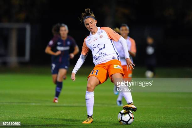 Katrine Veje of Montpellier during the French Women's Division 1 match between Paris Saint Germain and Montpellier on November 4 2017 in Paris France