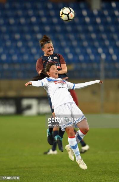 Katrine Veje of Montpellier during the UEFA women's Champions League match Round of 16 second leg between Montpellier and Brescia on November 15 2017...