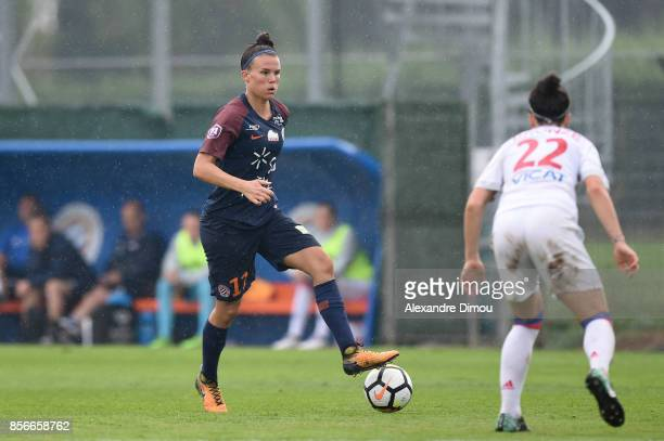 Katrine Veje of Montpellier during the women's Division 1 match between Montpellier and Lyon on September 30 2017 in Montpellier France