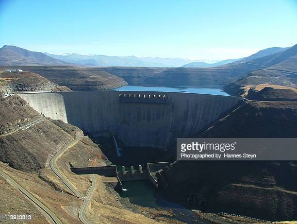 katse dam - lesotho stock photos and pictures