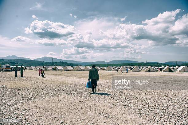 katsikas refugee camp in greece - syrian culture stock photos and pictures