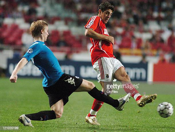 Katsouranis of Benfica during the UEFA Champions Leage Group F SL Benfica vs FC Copenhagen at Luz Stadium in Lisbon Portugal on November 21 2006