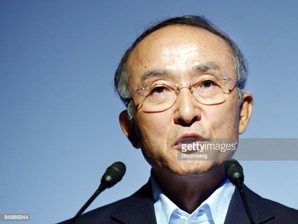 Katsuaki Watanabe president of Toyota Motor Corp speaks at the Toyota Environmental Forum in Tokyo Japan on Wednesday June 11 2008 Toyota Motor Corp...