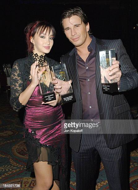 Katsumi and Manuel Ferrara Award Winners during 2006 AVN Awards Arrivals and Backstage at The Venetian Hotel in Las Vegas Nevada United States