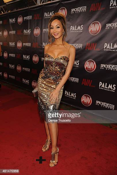 Katsuni arrives at the 2010 AVN Awards at the Pearl at The Palms Casino Resort on January 9 2010 in Las Vegas Nevada