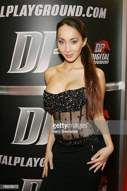 Katsuni at the Digital Playground booth in the Sands Expo Center at the 2008 AVN Adult Entertainment Expo on January 12 2008 in Las Vegas Nevada
