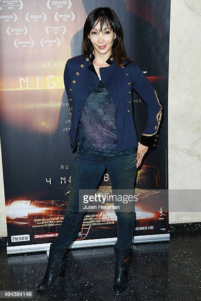 Katsuni attends Night Fare Paris Premiere at Cinema Max Linder on October 26 2015 in Paris France
