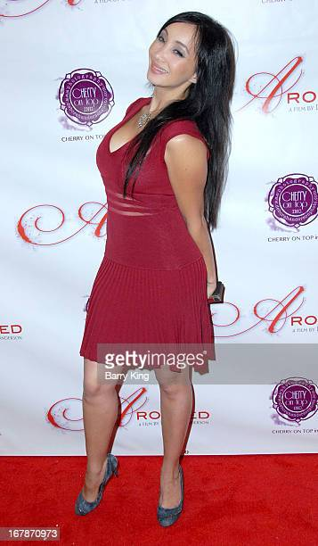 Katsuni attends the Aroused Los Angeles Premiere on May 1 2013 at the Landmark Nuart Theatre in Los Angeles California