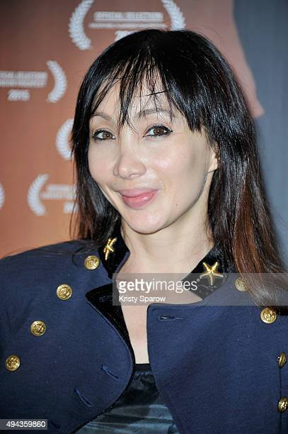 Katsuni attends the 'Night Fare' Paris Premiere at Cinema Max Linder on October 26 2015 in Paris France