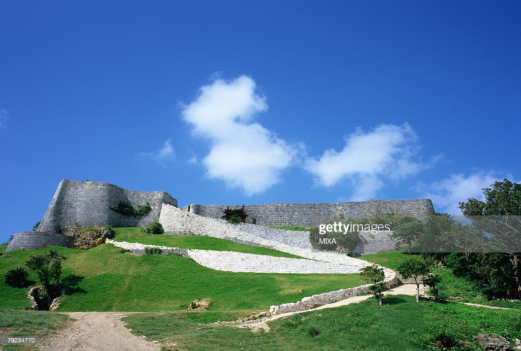 Katsuren gusuku castle ruins, Okinawa Prefecture, Japan : Stock Photo