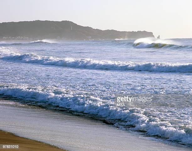 katsuura beach, katsuura, chiba, japan - chiba prefecture stock pictures, royalty-free photos & images