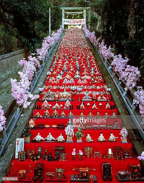 katsuura big doll festival, katsuura, chiba, japan - hinamatsuri stock pictures, royalty-free photos & images