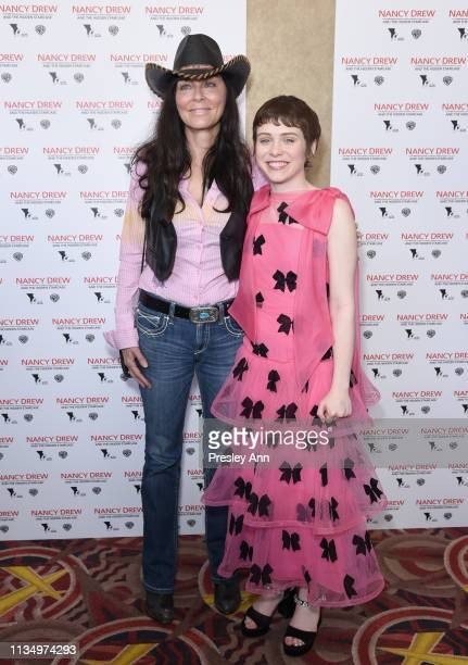 Katt Shea and Sophia Lillis attend the red carpet premiere of Nancy Drew and the Hidden Staircase at AMC Century City 15 on March 10 2019 in Century...
