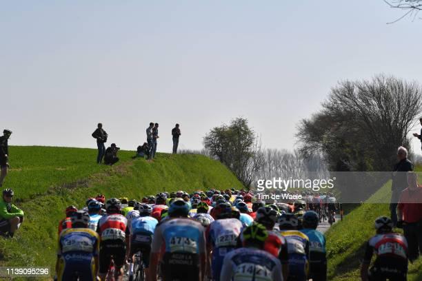 Katteberg / Cobblestones / Landscape / Peloton / during the 62nd E3 Harelbeke 2019 a 203,9km race from Harelbeke to Harelbeke / #E3BinckBankClassic /...