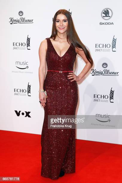 Kattia Vides attends the Echo award red carpet on April 6 2017 in Berlin Germany