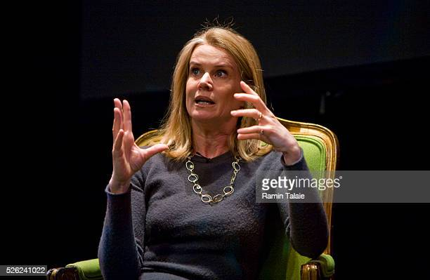 Katty Kay news anchor BBC America in Washington DC and author of Womenomics talks about her book during a Mediabistrocom event in New York City on...